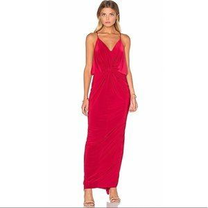 Misa Los Angeles Domino Maxi Dress in Red.
